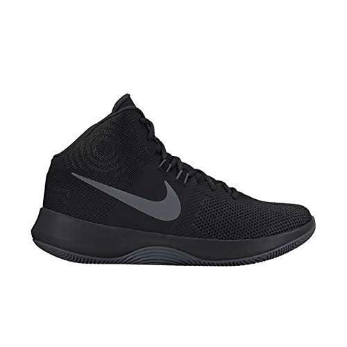 5618b019466 Nike Mens AIR Precision NBK Black MTLC Dark Grey White Size 8.5