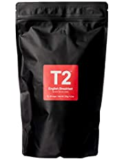 T2 Tea English Breakfast Black Tea Bags in Resealable Foil Refill Bag, 60-Count