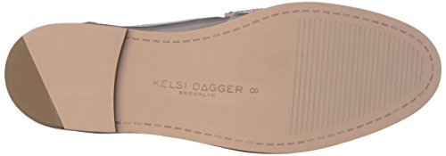 Kelsi Dagger Brooklyn Womens Gwen Slip-on Mocassino In Peltro