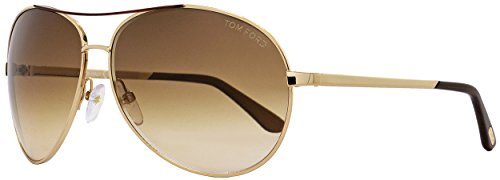 TOM FORD SUNGLASSES FT0035 CHARLES GOLD TF35 - Tom Sunglasses Women Aviator Ford