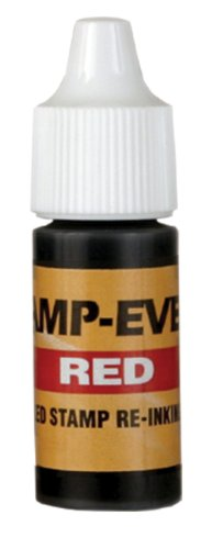 Stamp-Ever Pre-Inked Refill, 7ml Bottle, Red (5028)
