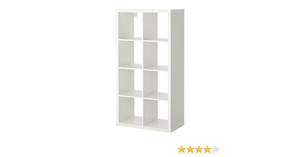 Ikea KALLAX estantería de Pared Blanco Brillante; (77 x 147 cm); Compatible con EXPEDIT
