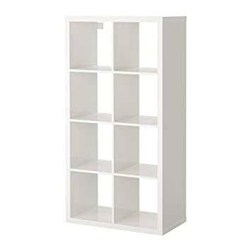 Ikea regal expedit weiß  IKEA KALLAX Regal in Hochglanz weiß; (77x147cm); Kompatibel mit ...