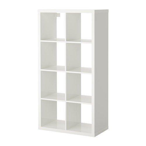 Ikea KALLAX estantería de Pared Blanco Brillante; (77 x 147 cm); Compatible con EXPEDIT: Amazon.es: Hogar