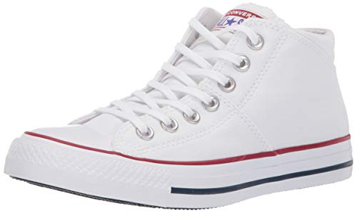 Converse Women's Chuck Taylor All Star Madison Mid Top Sneaker White, 7 M US (High Top Chuck Taylors With Skinny Jeans)