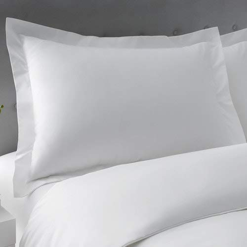 SC-Collection Queen Pillow Shams Set of 2 White 550 Thread Count Super Soft Queen Size Pillow Shams 20