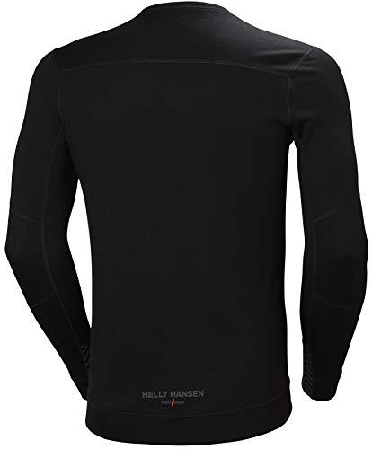 girocollo uomo Merino nera lunga manica shirt Hansen Hack T v6Uq1w