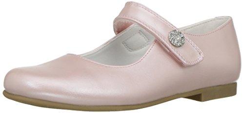 Rachel Shoes Girls' Jackie Mary Jane, Pink Pearlized, 11 M US Big Kid (Pink Kids Dress Shoes)