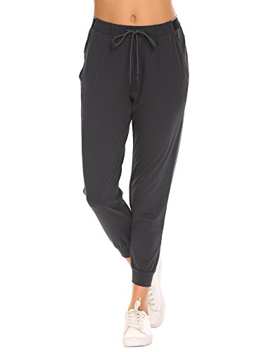 Ekouaer Stretched Sport Track Pants High Waist Yoga Pants For Women
