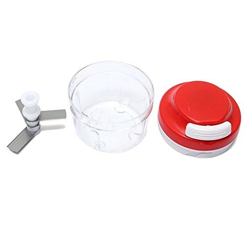 IETONE Fashion Kitchen Food Chopper Spiral Slicer Meat Fruit Cutter Mixer Salad Crusher-Red (Spiral Peanut Red)