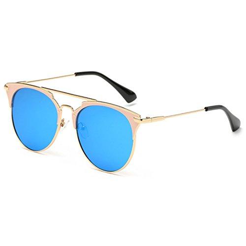 Vintage de afas moda Eye Oro Metal Cat Yefree Sun Gafas unisex Marco Hielo Azul sol de 400 de UV Glasses nIwndqa