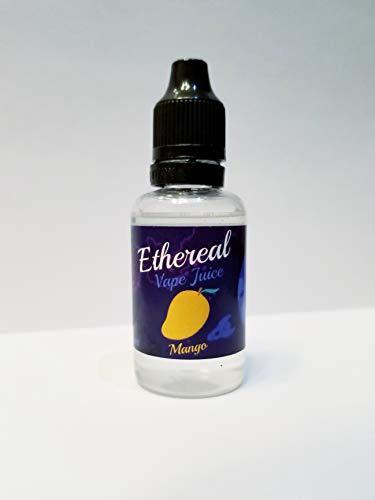 Ethereal Aromatherapy Vape Juice, 0 mg Nicotine 30 ml 100% Nicotine and Tobacco Free e Liquid. (Mango)