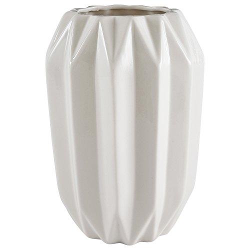 Decorative Stoneware (Rivet Modern Angled Stoneware Vase, 8.7