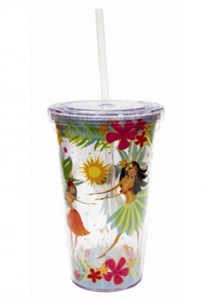 Island Hula Honeys Travel Tumbler with Straw 16 (Island Hula Honeys)
