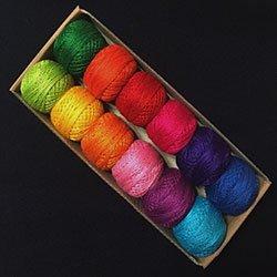 Valdani Perle Cotton Size 8 Embroidery Thread Ewe-niversity Paint Box Sampler Set by Valdani