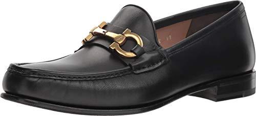 - Salvatore Ferragamo Bond 2 Mens Leather Loafers Shoes Made in Italy (8 E US) Nero