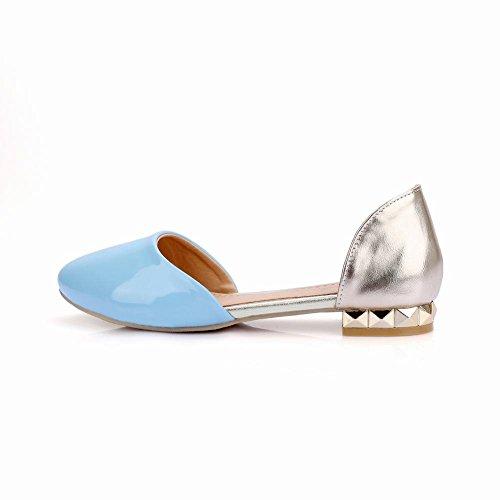 Show Shine Damesmode Assortiment Kleuren Loafers Schoenen Lichtblauw