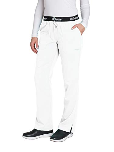 - Grey's Anatomy Active 4275 Drawstring Scrub Pant White XS Petite