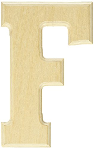 MPI Baltic Birch University Font Letters and Numbers, 5-Inch, Letter F