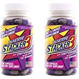 Stacker 3 Metabolizing Fat Burner with Chitosan, Capsules, 100-Count Bottle (Pack of 2)