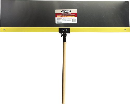 - Hyde Tools 28000 Proshield Flexible Labeled Spray Shield, 36 in L X 9 in W, Aluminum, 36 x 9
