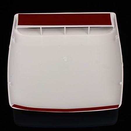 Toma de aire universal decorativa para techo o capó, de color blanco: Amazon.es: Coche y moto