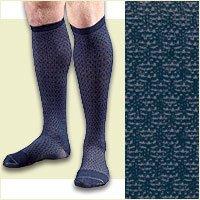 (FLA Activa Men's 15-20 mmHg Casual Patterned Socks - Large - Black )