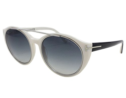 Tom Ford FT0383/S 25B Joan Ivory/Black Round - Sunglasses Ford White Tom