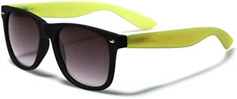 Colorful Two Tone Sunglasses Matte Black Frame with Translucent Arms