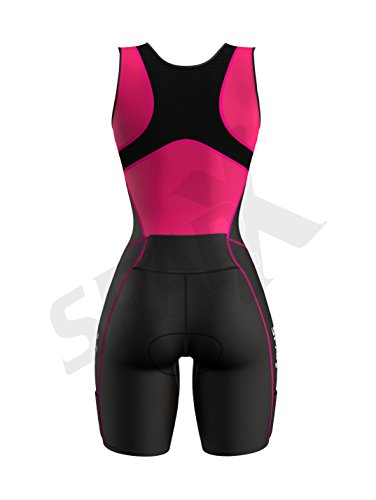 Sparx Women Triathlon Suit Tri Short Racing Cycling Swim Run (Small, Pink) by Sparx Sports (Image #4)