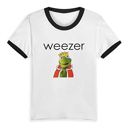 MyLoire Weezer Band Rock Toddler Kids Boys' Girls' Short Sleeve T-Shirt 4T Black