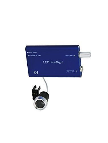 NSKR HPS LED Head Light Lamp On Head Light for Dental Surgical Binocular Loupes Blue Color by NSKR HPS (Image #1)