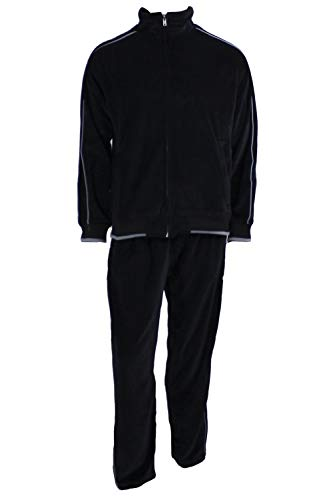 Sweatsedo Uncle Tony Black Velour Tracksuit (XX-Large)