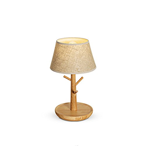 (KMYX Creative Art Linked Wooden Table Lamps Branches Hanging Small Shelf Bedroom Living Room Multifunction Halloween Desk)
