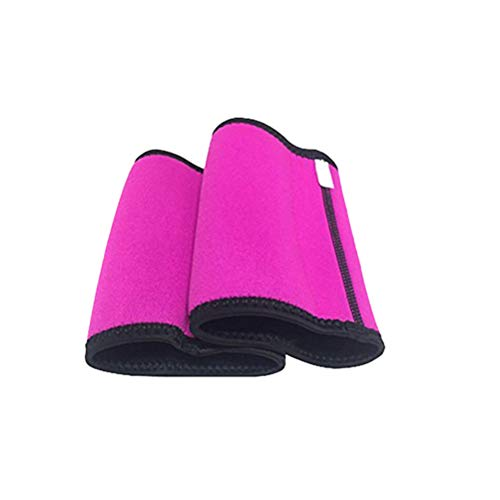Healifty Arm Slimming Compression Shaper Elastic Sweat Absorption Armband Weight Loss Arm Shaper for Women Lady Girl Size S (Rosy)