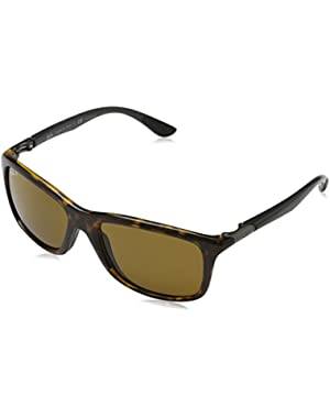 INJECTED MAN SUNGLASS - HAVANA Frame POLAR BROWN Lenses 57mm Polarized