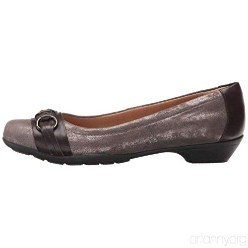 softspots Womens Posie Leather Closed Toe Loafers, Smoke Suede, Size 6.0