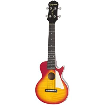 Epiphone Les Paul Acoustic/Electric Ukulele Outfit Heritage, Cherry Burst