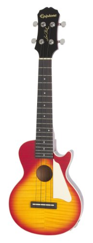 Epiphone Les Paul Acoustic/Electric Ukulele Outfit Heritage, Cherry Burst by Epiphone
