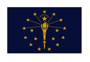 (3) Indiana State Flag Funny Hard Hat / Helmet Vinyl Decal Sticker - Indiana Lunch Box