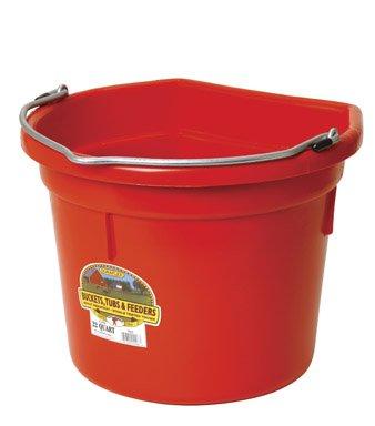 - Little Giant Flat-Back Dura-Flex Plastic Bucket, 22-Quart, Red