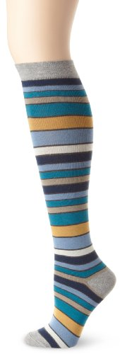 PACT Women's San Francisco Stripe Knee Sock, Multi Colored, One Size