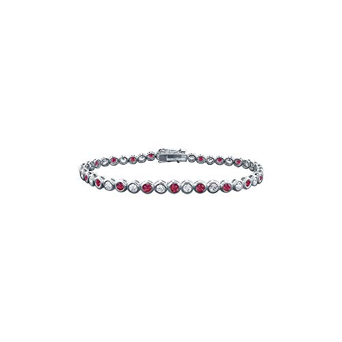 Ruby and Diamond Tennis Bracelet with 2.00 CT TGW on ()