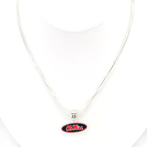 Seasons Jewelry University of Mississippi Enamel Logo Necklace ()