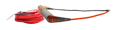Hyperlite Team Handle with X-Line Rope for Waterski Boat Red ML