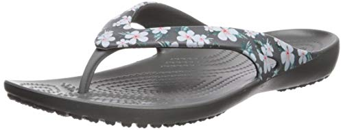 Crocs Women's Kadee II Flip Flop, Tropical Floral/Slate Grey