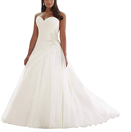 Wedding Dresses for Bride 2019 Bridal Gown Plus Size Wedding Dress Tulle Long Wedding Ball Gowns White US14 (Sottero Maggie Wedding Gown)