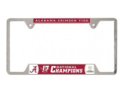 - WinCraft Alabama Crimson Tide 2018 National Champions Metal License Plate Frame