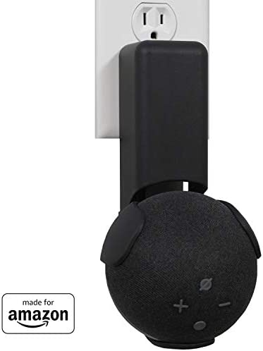 All New, Made For Amazon Outlet Hanger, Black, for Echo Dot (4th era)