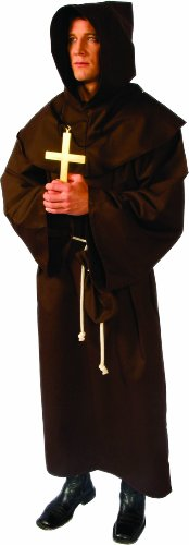 [Alexanders Costumes Deluxe Monk Robe, Brown, One Size] (Brown Monk Robe Costume)